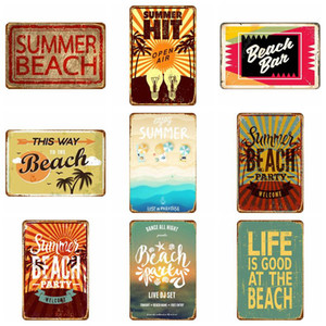 Wholesale metal paintings wall art resale online - Metal Tin Retro Wall Plaque Painting Home Restaurant Sign Paints Decoration Art Sticker Iron Pub Wall Decor Support Customized EWA2678