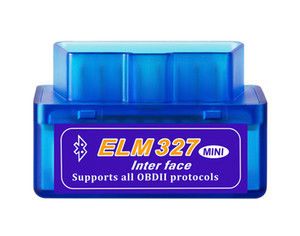 Wholesale elm327 adapter resale online - Mini V2 ELM OBD2 Elm327 Bluetooth Adapter Cord Reader Scan Tool Elm Car Diagnostic Scanner OBD II Auto Diagnostic Tool
