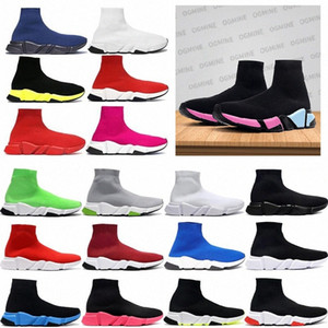 ayakkabı çorapları toptan satış-chaussures hommes balenciaga balenciaca balanciaga spiridon caged Casual runner shoes Metallic Silver Lemon Venom Pistachio Frost speed womens mens trainers sports sneakers