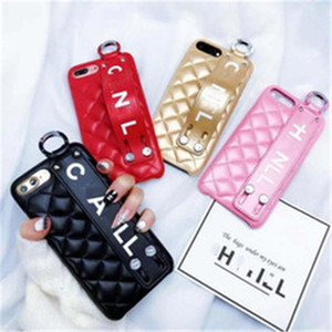 Designer Phone Case for iPhone 12 Pro Max 12 Mini 11 Xr Xs Max SE2020 Finger Holder Phone Cases With Strap