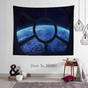 Wholesale designer space for sale - Group buy Earth View From Space Station Window Tapestry Hanging Cloth Tablecloth Picnic Mat Outdoor Wall Art Home Decoration Shawl TAA431