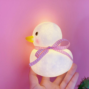 Wholesale cute room decor resale online - Duck Decorative Lamp Baby Night Light Led Lights Room Cute Animal Lighting Bedroom Decor Kids Room Decoration Luminaria Gift KKF3558