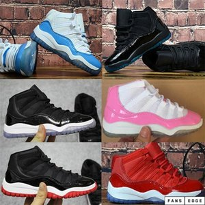 zapatos de gimnasia para niños al por mayor-2020 New Kids Shoes Regalo para Boy Girl Space Space Jam Bred Concord Gym Gym Red Luxury Designer Sports Sports Shipping