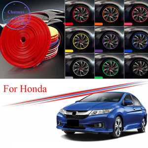 honda civic color al por mayor-8m Multi Colors Car Crowing Hub Rim Att para Honda City Civic Accord Fit CR Z UR V CR V Edge Protector Ring Guard Strip Pegatinas de goma