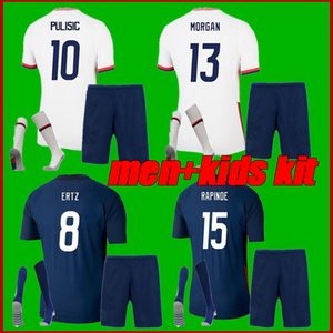 men+kids kit 2021 PULISIC MORGAN RAPINOE Soccer Jerseys 20 21 WILLIAMS HEATH LLOYD ERTZ Home Away Football Shirt