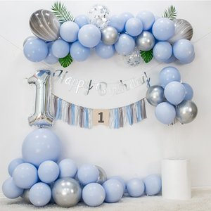 Wholesale festival balloon resale online - 100pcs inch Macaron Latex Balloons Wedding Birthday Decorations Balloon Festivals Atmosphere Decor Round Balloons VT1999