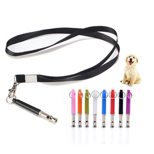 Wholesale barking dogs resale online - Pet Dog Training Whistle Adjustable Frequencies UltraSonic Sound Flute With Keychain Bark Control Devices Training Tool JK2012XB