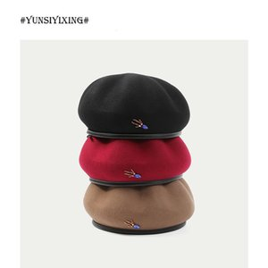 Wholesale trendy berets for sale - Group buy YSYX Autumn And Winter Dome Wool Top Hat Women s New British Vintage Octagonal Beret Korean Style Trendy French Hat Hot DYM