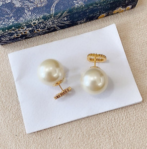 Wholesale clip earrings for sale - Group buy Top Quality Pearl Earrings Simple Trend Earrings Forwoman Brass Material Silver Needle Earrings Supply Fashion Jewelry