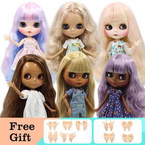 Wholesale blyth doll nude resale online - ICY DBS Blyth Doll Joint Body DIY Nude BJD toys Fashion Dolls girl gift Special Offer on sale with hand set A B Y0112