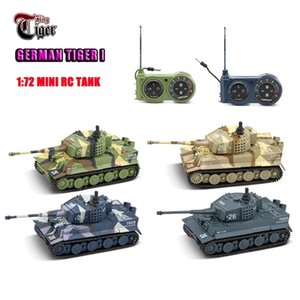 Wholesale boat remote controlled for sale - Group buy new RC tank Germany Tiger I Colorful Vivid High Simulated Great tanks Toys mini Remote Control Toy LJ201210