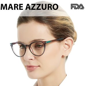 Wholesale women glasses 1.5 for sale - Group buy MARE AZZURO Reading Glasses Women Cat Eyes Presbyopic Glass Gradient Transparent Eyewear Frame To SR8100 JW T200428