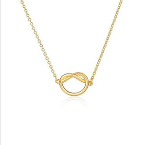 Wholesale infinite necklaces for sale - Group buy New Design Knot Necklace Pendant Women Heart Infinite Necklaces Choker Forever Love Gift Collar Jewelry Gifts
