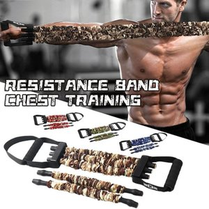 ingrosso esercitatore torace-Premium Latex Chest Expander Pull Barelle elastiche Band Elastici Espansore petto regolabile per home Gym Muscle Training Asteliser