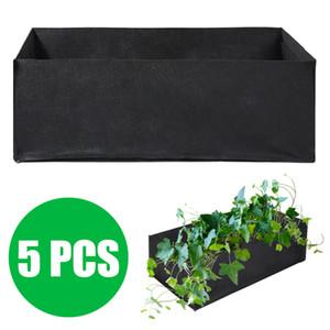 1Set Non-toxin Durable 60 x 30 x 21cm Fabric Reusable Garden Plant Bags For Vegetable Tomato Potato Carrot Grow Bags 5 pcs Q1125
