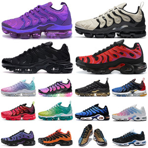 ingrosso di vapore max-vapormax vapor max shoes tn plus scarpe da corsa donna uomo Triple White Black Gold Greedy Worldwide Be True OREO Scarpe da ginnastica da uomo iper blu Sneakers sportive