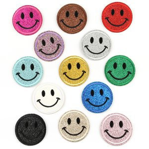 Wholesale emoji cloths for sale - Group buy Smiley Embroidered Label Cute Emoji Smiley Embroidery Clothing Accessories Cloth Sticker Adhesive Patch Sticker Badge DHL Free