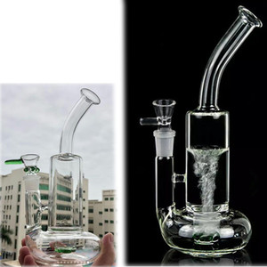 Tornado Bong Curved Water Pipes heady glass Water Bongs Heady rig Recycler Dab Oil Rigs Smoking Accessories 10.8 inchs Tall Hookahs Shisha