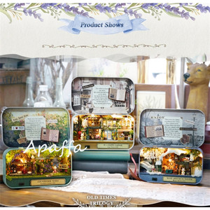 Wholesale houses for dolls for sale - Group buy Box Theatre Diy Wooden House for Dolls Miniature Home Styles Nostalgic Theme Doll House Furniture Accessories Toys for Kids