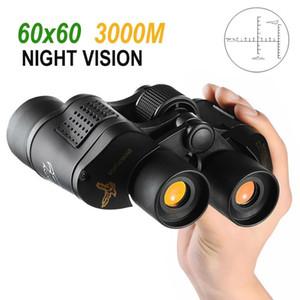 The Newest 60x60 3000M Ourdoor Waterproof Telescope High Power Definition Binoculos Night Vision Hunting Binoculars Monocular Telescopio DHL