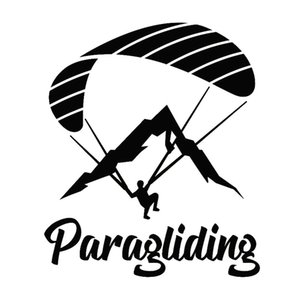 Wholesale sports car decor sticker resale online - 14 CM CM Paraglider Paragliding Extreme Sport Decor Car Sticker Motorcycle Decal Car Styling