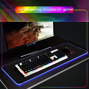 Wholesale high keyboard resale online - High RGB Large Quality Gamer Gaming Big Mouse Mat Computer MousePad Led Backlight Surface Mause Pad for Keyboard DeskMat