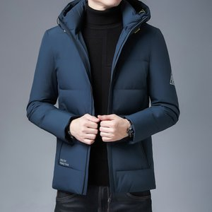 Wholesale armband jacket for sale - Group buy autumn Men s wear winter new trend casual stand collar slim fitting armband white duck down hooded down jacket men s short