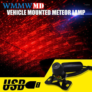 Wholesale car music rhythm lamp led resale online - Hot sale Car USB Plug laser Projector Atmosphere Lamp With Remote Control LED Lights Auto Decoration Interior Music Rhythm Light1
