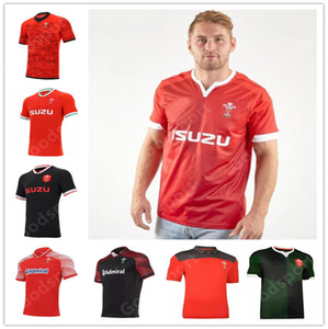 Wholesale sports cups resale online - 2021 Rugby World Cup Jersey Wales Rugby Jersey Welsh polo T Shirt Rugby League Jersey Shirt Red Men shirts hot sale sport