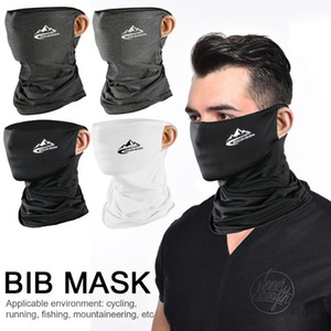 Wholesale neck gaiters resale online - Silk Bicycle Bandana Face Tube Outdoor Sport Hiking Riding Neck Gaiter Scarf Cycling Headband Men Women Sunscreen Headwear