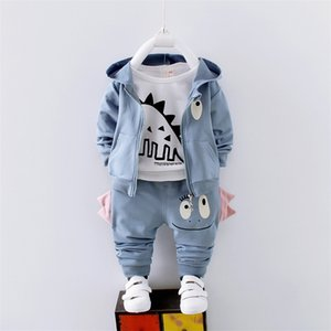 Wholesale cartoon shirts for kids for sale - Group buy Boys spring clothes sets kids fashion cartoon longsleeve t shirt coat pants jogging suirs for boy children tracksuit autumn Y200829