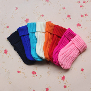 Wholesale cat sweaters resale online - Bichon Pullover Pets Autumn Winter Thickening Clothes Cute Small Sweaters Puppy Cats Sweaters Apparel Knitted Weaving Supplies tc G2
