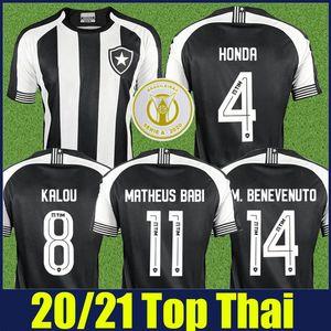 2020 2021 Brasileiro Botafogo soccer jersey KALOU HONDA football jersey M.BENEVENUTO MATHEUS BABI soccer uniforms camisa Botafogo 20 21 Top