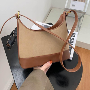Wholesale high qaulity resale online - Women Tote Bags Luxury Bucket Shoulder Bags For Women Nubuck Crossbody Bag Lady High Qaulity Handbag Adjustable Strap Pack