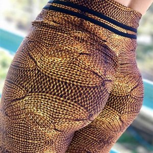 pantalon de yoga marron achat en gros de-news_sitemap_homeMode Print Femmes Fitness Yoga Pants Push Up Taille High Taille Collants Gym Sport Leggings Jogging Running Sports Sterly Wear Brown