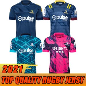 jefe superior al por mayor-Tamaño S XL Top Hurricane Crusades Highland Chief Blues Super Rugby League NRL Jersey Mustang Formning Wear Adulto Mens Camiseta Traje