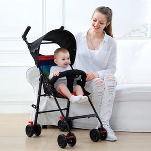 Wholesale folding hand cart for sale - Group buy Lightweight Baby Stroller Portable Small Child Hand Push Pocket Folding Can Sit and Lay One button Baby Cart Infant Carriage1