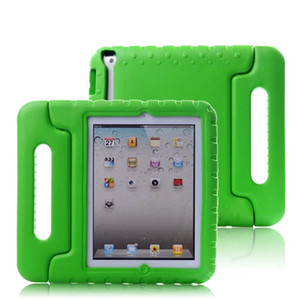 Wholesale para tablet resale online - Case for ipad hand held portable Shock Proof EVA full body cover Handle stand Kids Safe Silicone para shell coque housing