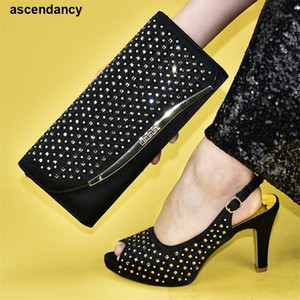 Wholesale african shoes and bags set resale online - New Arrival African Matching Shoes and Bags Italian In Women Woman Shoes and Bag Set In Italy Designer Women Luxury