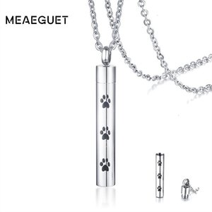 Wholesale pet urns for dogs for sale - Group buy FactoryHAH8Women Print Necklace Cylinder For Cremation Pet Urn Pet Memorial Dog Stainless Steel Jewelry