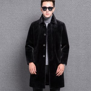 Wholesale jackets spikes resale online - Spike Autumn faux leather jacket mens winter thicken warm fur leather coat men loose jackets fashion B1771