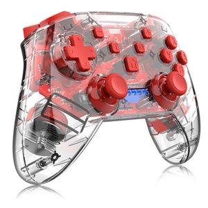 2020 For Nintendo switch gamepad usb handle transparent handle Pro wireless vibrating handle free shipping