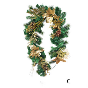 Wholesale christmas tree wreath for sale - Group buy Artificial Green Leaves Wreath Christmas tree Decoration Front Door flower Wreath Shell Grass Boxwood For door Wall Window Party DHE3379