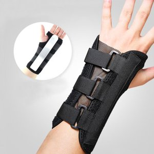 Wholesale plate supports resale online - Wrist Sprain Prevention Sheath Bracket Wrist Breathable Hand Protector Adjustable Safety Hand Support Cover Steel Plate Protect