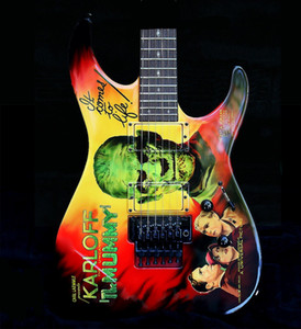 kirk hammett оптовых-Custom Kirk Hammett Ltd kh Karloff Mummy Moment Monster College Collection Electric Guitar Reverse Reverse скопируйте пикапы EMG Floyd Rose Tremolo