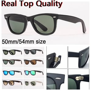 Wholesale clean glasses resale online - designer sunglasses women sunglasses mens sun glasses real uv protection glass lenses with leather case clean cloth all retailing package