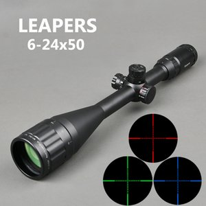 óptica de aire al por mayor-Leapers x50 AOL Sniper Scope Táctico Optics Scopes RGB iluminado para caza Rifle Air S
