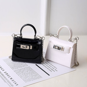 Wholesale candy color children handbags for sale - Group buy Girls Chain Lock Mini Bag Women Jelly Bag Handbags Fashion Kids Candy Color Mini Kelly Bag Children Casual One Shoulder Bags C6777