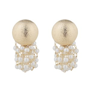 aretes chico al por mayor-Tassel String Pendientes Textura Personalidad Simple Boy Button Jewelry Mujeres Bridal Moda Accesorios Eardrop Gifts Boda zy K2