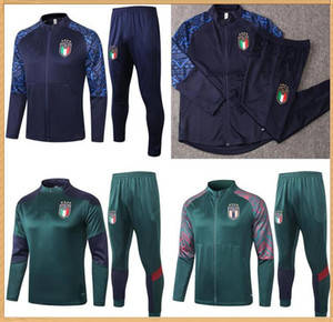 Wholesale italy soccer tracksuit for sale - Group buy 2020 Italy survetement jacket Training suit soccer tracksuits Italia tracksuit football jacket tracksuit set